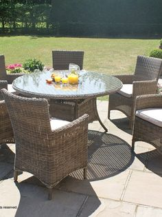 Maze Rattan LA 6 Seat Rectangular Garden Furniture Set   Gardens, Maze And  Furniture Nice Design