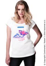 Shell / Muschel, Butterfly / Schmetterling Kekeye T-Shirt, Ladies Summer Fashion Web Design, Grafik Design, Women's Summer Fashion, Designer, Shell, Butterfly, T Shirts For Women, Collection, Fashion
