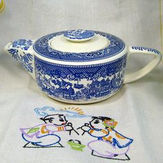 Royal China Blue Willow Ware Vintage Teapot  by retroinfusion, $69.00