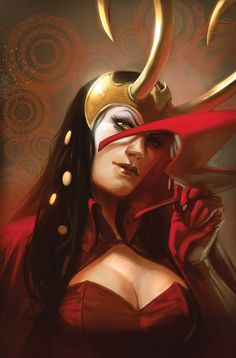 Mighty Avengers #29 by Marko Djurdjevic - Loki as the Scarlet Witch