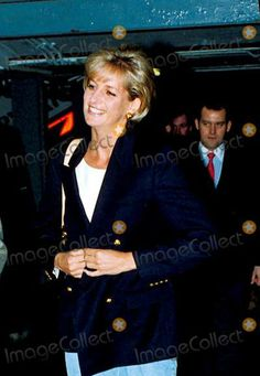 January 13, 1997: Diana, Princess of Wales with Paul Burrell on arrival at the Luanda Airport, Angola announced she had joing the international campaign by working with the Red Cross to ban landmines.
