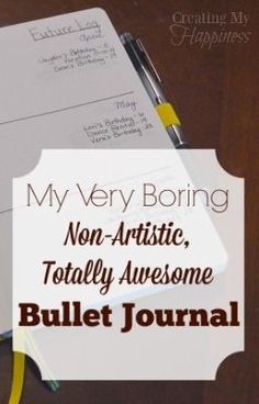 Think bullet journals are only for the artistic highly creative? Think again! I'm rockin' my bullet journal in black and white. via @creatingmyhappy
