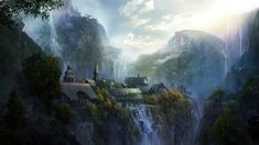 General 1920x1080 fantasy art Rivendell
