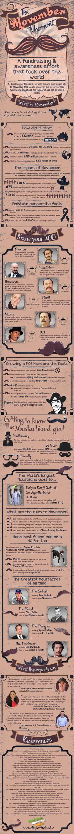 Movember – Do You Know Your Mo - Do you fancy an infographic? There are a lot of them online, but if you want your own please visit http://www.linfografico.com/prezzi/ Online girano molte infografiche, se ne vuoi realizzare una tutta tua visita http://www.linfografico.com/prezzi/