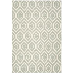 Safavieh Handmade Moroccan Grey-and-White Wool Rug (5' x 8')