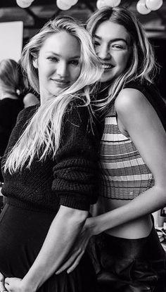Candice Swanepoel & Gigi Hadid