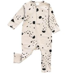 Geometry Chat Romper in Beige/Black by Tinycottons - Junior Edition