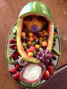 Bruce the healthy option for food at a gender reveal party :)