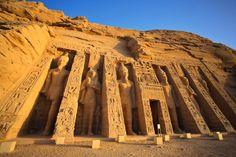 Aswan, Egypt --- Egypt, Abu Simbel, Temple