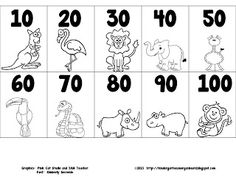 counting by 10's freebie.  Would be good to print a few to use as a resource.  Could also print and cut up to use as an activity to do with a pocket chart.