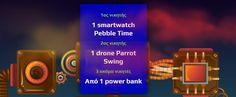 Διαγωνισμός «ΑΝΑΚΥΚΛΩΣΗ ΣΥΣΚΕΥΩΝ Α.Ε» με δώρο smartwatch Pebble Time, drone Parrot Swing και powerbanks! http://getlink.saveandwin.gr/97M