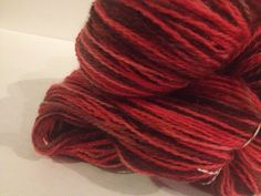 Chocolate Covered Cherries Fingering Weight Hand by LoveKnitCozy. , via Etsy.