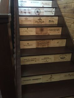 Stairs made from wine crates