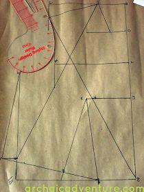 Archaic Adventure: Pattern Drafting: Bodice Sloper Part 1