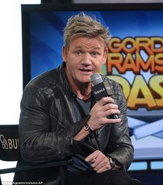 Back to his usual tricks: The 49-year-old TV chef talked to AOL about his new app Gordon Ramsay DASH and remained upbeat, even challenging fellow chef Bobby Flay to a cook-off