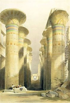 Central Avenue of the Great Hall of Columns, Karnak by David Roberts