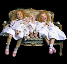 four 'petites soeurs' by French doll artist Anne Mitrani ... photo from Doll Reader Magazine