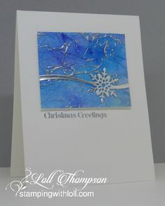 Hi everyone. Today I'm sharing the details (and close-up pics) of the three cards from my latest video - Tissue Paper Watercolouring & Te...