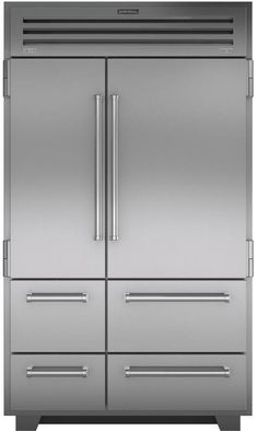 Sub-Zero 48 Inch Built-In Left Hinge PRO Series Solid Door Refrigerator/Freezer with cu. Total Capacity, 3 Adjustable Refrigerator Glass Shelves, Automatic Ice Maker, and Water Filtration System, in Subzero Refrigerator, Counter Depth Refrigerator, Built In Refrigerator, Side By Side Refrigerator, Stainless Steel Refrigerator, Refrigerator Freezer, Kitchen Refrigerator, Wolf Kitchen, Family Kitchen