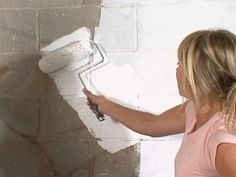 Interior Painting Tips : Home Improvement : DIY Network Sealing Basement Walls, Basement Flooring, Basement Remodeling, Basement Waterproofing, Basement Ideas, Remodeling Ideas, Remodeling Companies, House Remodeling, Flooring Ideas