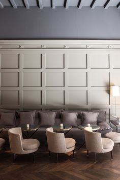 How to Apply Paneling or Beadboard Wainscoting Architecture Restaurant, Restaurant Interior Design, Cafe Interior, Interior Walls, Post Hotel, Butler, Interiors Magazine, Room Magazine, Lobby Design