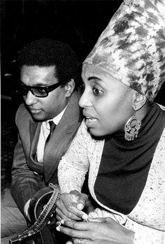 Stokely Carmichael & Miriam Makeba.