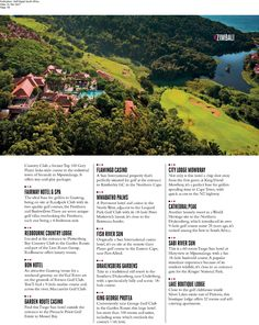 The Fairway Hotel, Spa & Golf Resort Golf Digest South Africa March 2017 Flamingo Casino, King David, Hotel Spa, South Africa, March, Golf, City, News, Cities
