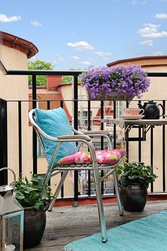 Small balcony with flowers