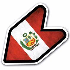Grunge Peru - JDM Wakaba Leaf Flag Decal Sticker Car Macbook Shoshinsha Honda #CUSTOMI