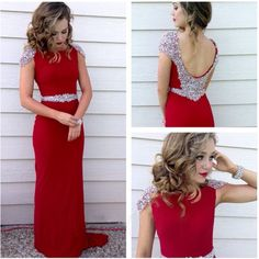 long prom dress, red prom dress, party prom dress, chiffon prom dress, cheap prom dress, sheath prom dress, evening dress gown, 141246