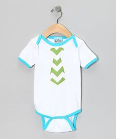 Take a look at this Blue & Green Tie Bodysuit - Infant by Sweet Petunia on #zulily today!