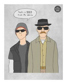White Breaking Bad Illustration by CarlBatterbee, Breaking Bad Season 1, Top Movies, Film Movie, Tv Shows, How To Plan, Illustration, Prints, Call Saul, Type