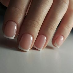 Installation of acrylic or gel nails - My Nails French Manicure Gel Nails, French Pedicure, Acrylic Nails, Manicure Tips, Love Nails, Pretty Nails, My Nails, Short Gel Nails, Short French Nails
