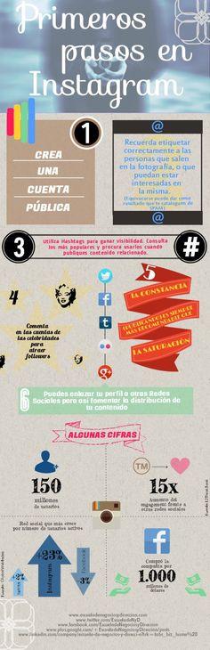 Primeros pasos en Instagram #infografia #infographic #socialmedia vía: @escueladeNyD