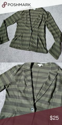 Calson Nordstrom Blazer Fall is quickly approaching!! Perfect for the colder season coming up    100% Cotton Dark green/ lighter green stripes. Hardly worn. Nordstrom Jackets & Coats Blazers