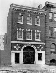 The Carnegies' garage at 55 East 90th Street in 1905.