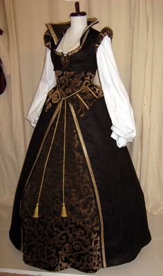 I really like the collar and shoulder combination  Nursemaid dress, Tudor style