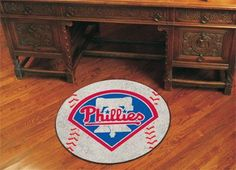 "MLB - Philadelphia Phillies Baseball Mat 27"" diameter"