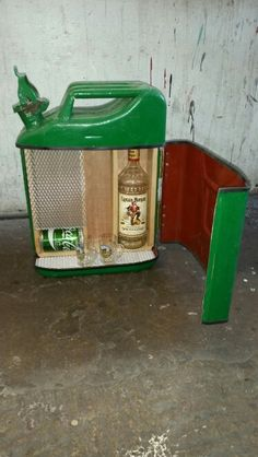 Jerry can drinks cabinet