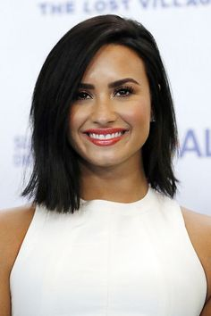 Demi Lovato attends Smurfs: The Lost Village Press Conference at United Nations Headquarters in New York.