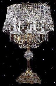 Chandelier Lamp with such sparkle. Chandelier Floor Lamp, Chandelier Lighting, Crystal Chandeliers, Star Chandelier, Crystal Palace, Antique Lamps, Vintage Lamps, Vintage Clocks, Lampe Decoration