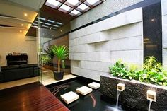 Minimalist Pond and Water Fountain Design