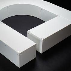banc-bench-sculpture-corbusier-savoye-metal-mobilier-urbain-outdoor-street furniture- Villa Savoye, Street Furniture, Bathtub, Rest, Urban, Sculpture, Metal, Outdoor, Home Decor
