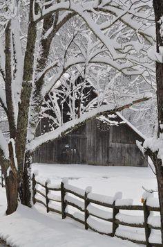 Snow Barn, Idaho!