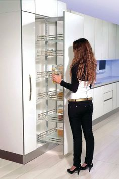 Find This Pin And More On Home Kitchen Pullout Glass Tall Pantry