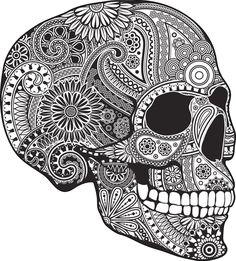 profile sugar skull