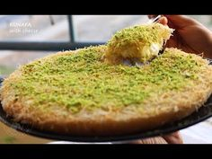 A simple recipe of kunafa / kunafeh / knafeh using kunafa dough Best Picture For Arabic sweets bakla Kunafa Recipe With Cream, Kunafa Dough Recipe, Mango Desserts, Arabic Dessert, Arabic Sweets, Ramadan Recipes, Sweets Recipes, Egyptian Desserts, Deserts