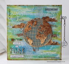 That's Life: Inspiration and Imagination ~ Simon Says Stamp Monday Challenge using Tim Holtz, Ranger, Idea-ology, Sizzix and Stamper's Anonymous products; July 2015