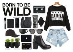 """""""Born to be W I L D"""" by tfaith-1 ❤ liked on Polyvore featuring CASSETTE, NARS Cosmetics, Nly Shoes, Monki, Authentics, Armani Jeans, Tsovet and Muji"""