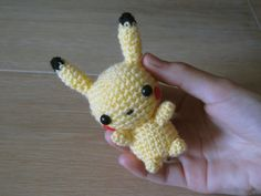 Pokemon Pikachu Amigurumi Crochet plush small by SugarYarnStore